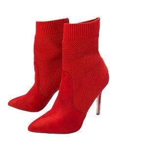Catherine Malandrino Red Tyme Sock Bootie
